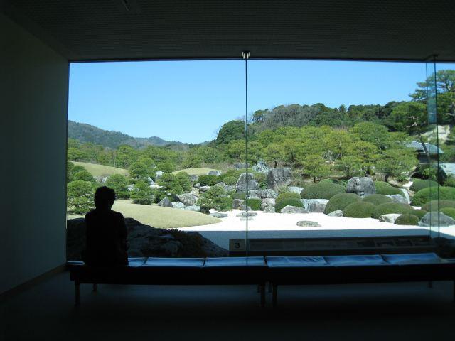 Jardin japonais vitre