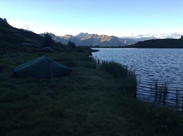 Bivouac au lac de Cristol