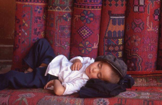 Enfant à Kashgar